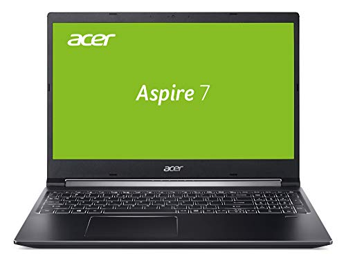 Acer Aspire 7 (A715-74G-7511) 39,6 cm (15,6 Zoll Full-HD IPS matt) Multimedia/Gaming Laptop (Intel Core i7-9750H, 16GB RAM, 512GB PCIe SSD, NVIDIA GeForce GTX 1650, Win 10 Home) schwarz