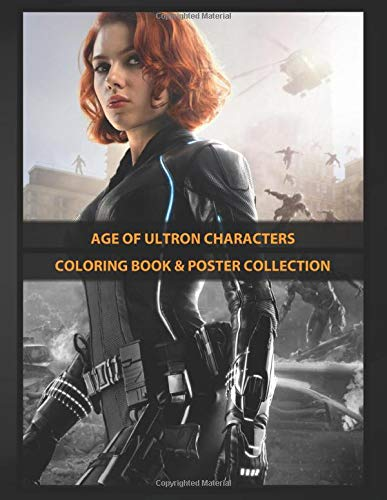 Coloring Book & Poster Collection: Age Of Ultron Characters Black Widow Comics