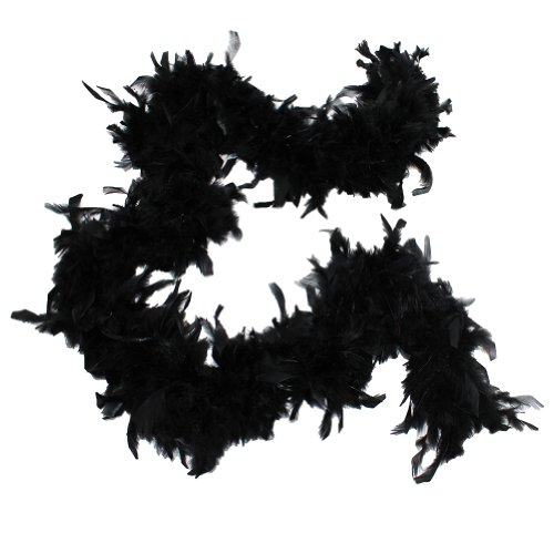 Cynthia's Feathers 65g Chandelle Feather Boas Over 80 Colors & Patterns to Pick Up (Black)