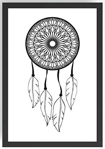 Zeichnung Traumfänger Kunstdruck Poster -ungerahmt- Bild DIN A4 A3 K0250 Größe A4