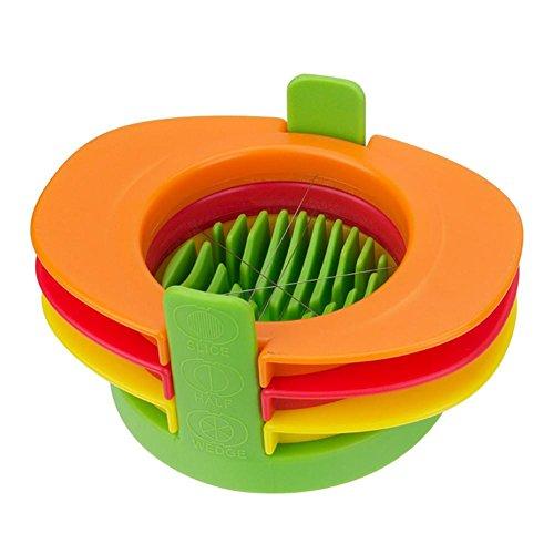 4 pcs Eierschneider Cutter Kunststoff Edelstahl Einfach Cutter Küche Gekochte Eier Kochen Werkzeuge Cutter für Pilz Slicer Lebensmittel-Rot