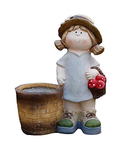 Jardineras para macetas Jardín al Aire Libre Escultura linda de la muchacha del plantador creativo Tiesto Sculpture Garden Decoración del arte de Accesorios Jardín macetas y jardineras Decoración del