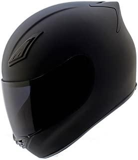 Duke Helmets DK-120 Full Face Motorcycle Helmet, Large, Matte Black