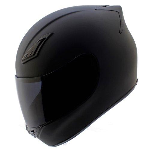 Duke Helmets DK-120 Full Face Motorcycle Helmet, Small, Matte Black
