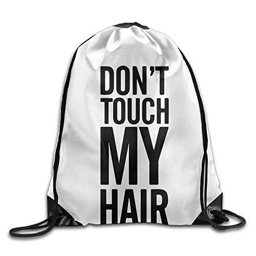 AllenPrint Gymnastikbeutel,Hund Berühren Sie Nicht Mein Haar Kordelzug Einkaufstasche, Geeignete Tragbare Kordelzug Rucksäcke Für Erwachsene Jungen Mädchen,36x43cm