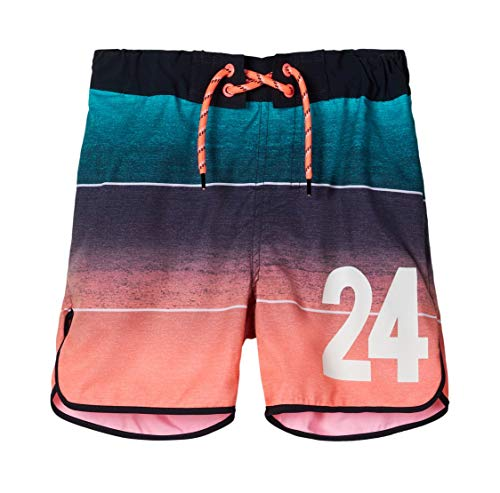 NAME IT Jungen NKMZAIDS Long Shorts Badehose, Neon Coral, 152