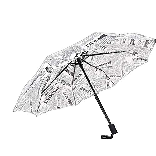 ZhiGe Foldable Umbrella,Umbrellas Rain Woman Creative Pattern Three Folding Umbrella Anti-UV Foldable Parasol Female Sun Umbrellas for Rain