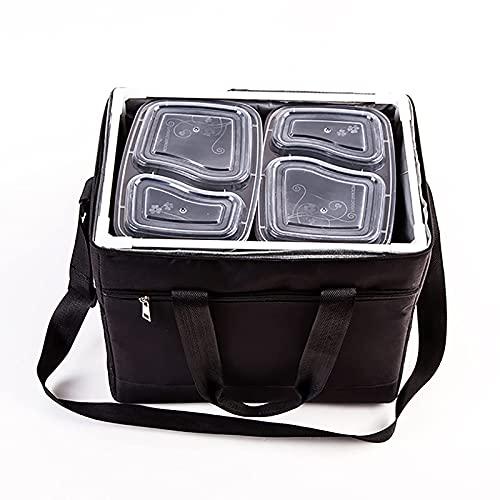 FHISD Bolsa de Almuerzo aislada, Bolsa refrigeradora Reutilizable, Bolsa de Picnic portátil al Aire Libre, Bolsa de Entrega de Alimentos, para Mantener los Alimentos Calientes