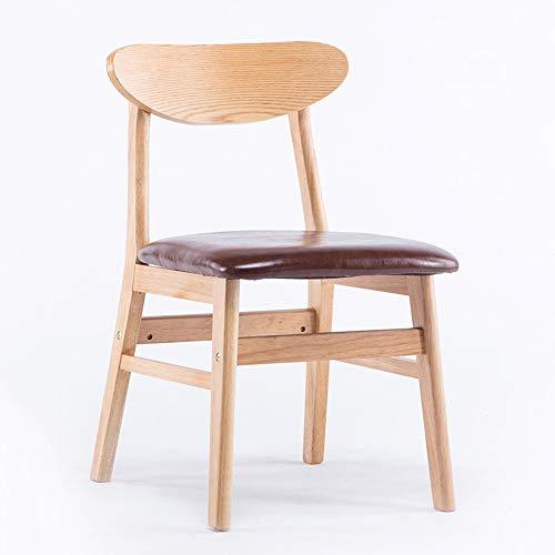 QYS Heces eetkamerstoel, massief hout, modern, minimalistisch, eetkamertafel, starthulp van de rugleuning, luidspreker (kleur: hout, walnoot) D114