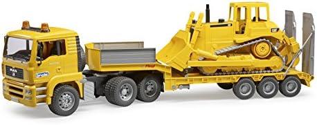 Tranzmasters Toy Transporteur Camion Avec Tractopelle-Échelle 1:55 Low Loader Camion
