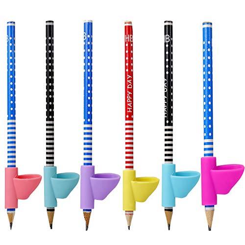 Wolintek Herramienta de Corrección de Postura de Escritura para Lápices de Niños 6 Piezas de Soporte de Lápiz para Lápices