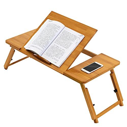 Binghai Escritorio plegable de bambú multifuncional estudio escritura mesa altura ajustable portátil soporte para dormitorio
