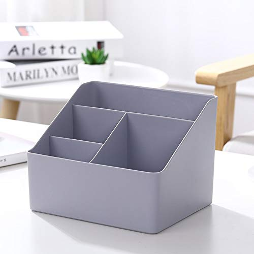 Multi-red de caja de plástico del maquillaje cosmético del organizador barra de labios de casos Misceláneas Pequeño almacenamiento Caja al por mayor Organizador de escritorio (Color : Gray)