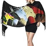 Bufanda de mantón Mujer Chales para, Wings Of Fire Bufanda de cachemir con alas de jade, bufanda cálida, bufanda Four Seasons súper suave.
