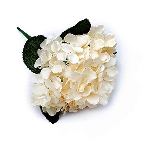 chuanglanja Flor Artificial Pequeña Simulación Flor Hortensia Boda Flor Falsa Hogar Coración La Sala Estar (10 Racimos Flores) -Champán Color