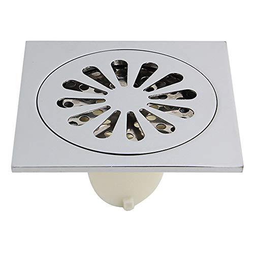DYecHenG Bodenablauf Badezimmer Copper Bodenablauf Slag Verdickte Wasser Seal Plastik Badezimmer-Einzelnutzung für Badezimmer Toilette Küche (Color : Silver, Size : ONE Size)