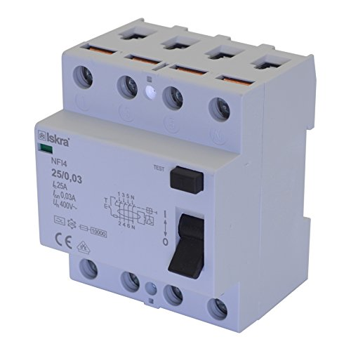 FI-Schutzschalter Fehlerstrom Schutzeinrichtungen Schutzschalter ECO-Line Typ A 63A 4-Pole 30mA 230/400V