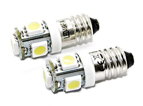 Lot de 10 Ampoules à vis E10 – 12 V EY10 LED SMD – Culot à vis – 12 V – Blanc Rouge Bleu Vert Jaune – Blanc Rouge Bleu Vert Jaune – Éclairage d'intérieur