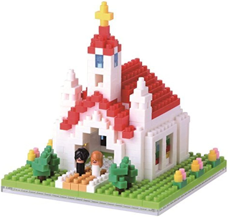 Kawada NBH_087 Nanoblock Church Building Kit by Kawada