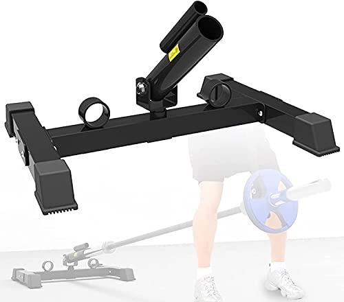 NFRMJMR Landmine Gym T-Bar-Reihe, Stahl-Landmine-Anbauscheibe, 360-Grad-Rotationsplatte Posteinsatz Landmine-Kreuzschläger-Ruder-Training-Ausrüstung, Fit 1 (Color : Black)