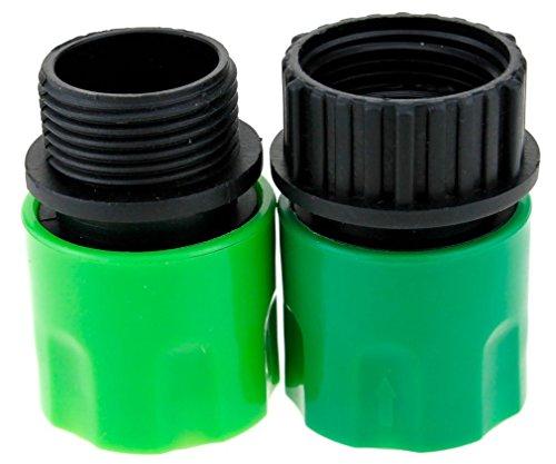 Topways® Garden HOSE Adaptors Connector Erweiterbare Gartenschlauch MANN UND FRAU Adapter Stecker für Hahn und Spray Grün