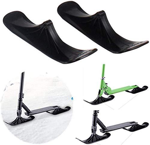 KONFA Moto De Nieve Esquí, El Montaje Deslizante Esquiar En La Nieve, Esquí De Invierno Accesorios Trineo, Moto De Nieve Partes De Doble Uso para Los Niños,A