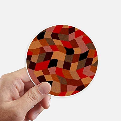 DIYthinker Diamond Polygon Tegel Kleurrijke Patronen Ronde Stickers 10 Cm Wandkoffer Laptop Motobike Decal 8 Stks