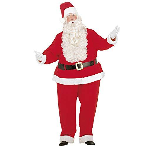 Widmann 1537 G Adulte Costume Père Noël épais, mûre Chemise et reifhose, Casaque, Ceinture, Chapeau, Rouge