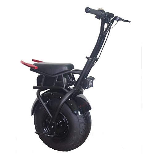 DTTKKUE Erwachsener elektrischer Roller 1KW Ebike EIN Rad-Motorrad-elektrisches Fahrrad-Nicht für den Straßenverkehr Einrad 100KG maximales Lastgewicht Schnellste Geschwindigkeit 48KM