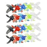Queenaal 10 Pares de bujes Transparentes LDARC de 40 mm de 4 Palas y hélice de 1.5 mm para Color Aleatorio Beta75X Drone