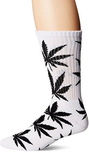 HUF Herren Plantlife Crew Socken, Weiß, Einheitsgröße