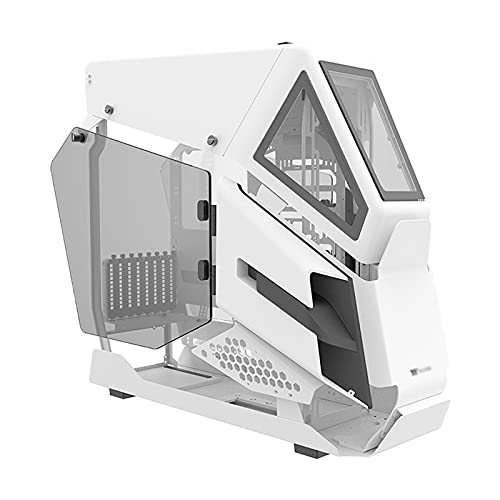 JF-TVQJ Caja Pc Gamer E-ATX Full Tower Gaming PC Case Blanco, Listo para Refrigeración por Agua, Chasis De Computadora, Carcasa De Escritorio con 2 Paneles De Vidrio Templado, Puerto USB 3.0 * 2