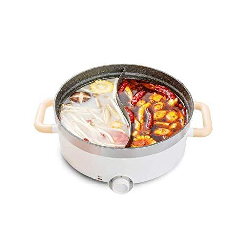 DYXYH Double face électrique Hot Pot avec Diviseur, Shaba Shabu non-adhérent, multi-fonction électrique Chauffage électrique Cuisinière électrique Wok de cuisine intégrée