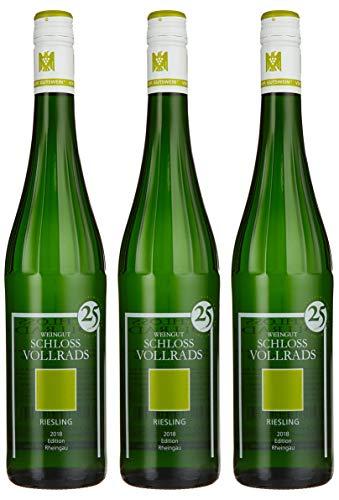 Weingut Schloss Vollrads Riesling Edition Rheingau Qualitätswein feinherb 2018 Trocken (3 x 0.75 l)