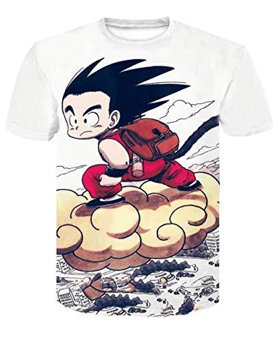 Douzxc Anime Heren T-Shirts Sport T-Shirts Dragon Ball Cartoon 3D Geprinte Fitnesslegging Met Korte Mouwen