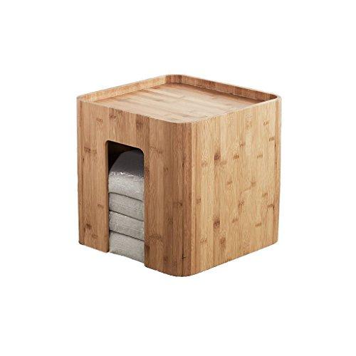 Hongsezhuozi Tische Tee Tisch Couchtisch Massivholz Quadratisch Tisch Kreativ Modern Bambus Möbel Multifunktionale Japanische Bucht Fenstertisch Beistelltisch Ecktisch Freizeittisch
