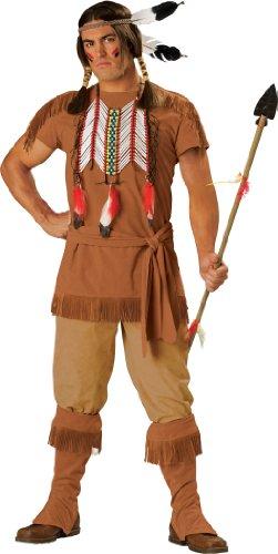 En Costumes de caract-re 186832 guerrier indien Costume - Brun - Grand