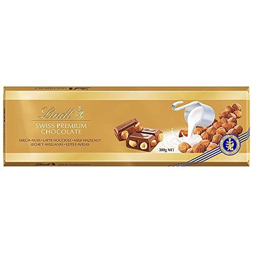 Chocolate Lindt Swiss Classic Ao Leite Com Avelãs 300G