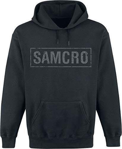 Sons of Anarchy Samcro - Logo Hombre Sudadera con Capucha Negro M