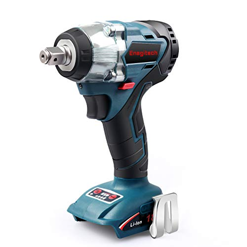 Enegitech 18V Cordless Impact Wrench Brushless, 4 Rev 1/2' Automatic