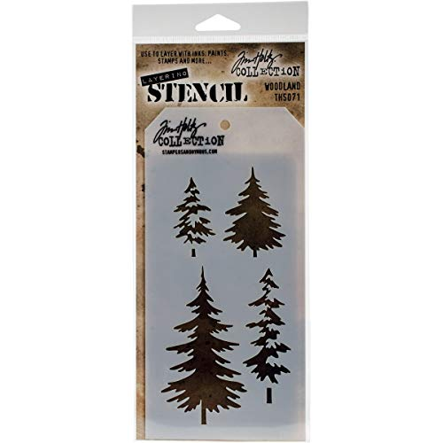 Stampers Anonymous Woodland Stencil, 28.3 x 11.4 x 0.1 cm, Multi-Colour