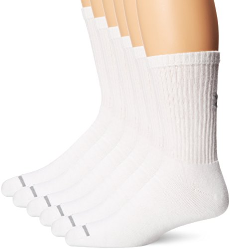 Under Armour UA Charged Cotton Sportswear – Chaussettes & Bas Sportswear Chaussettes Crew 6PK L Blanc
