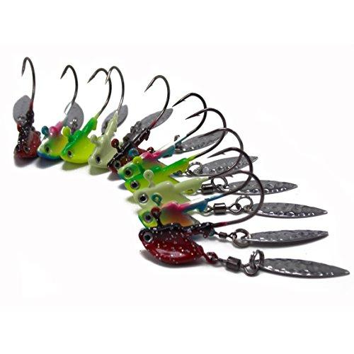 Details about  /Luminous Fishing Jigs Hook Jig Heads Fishing Lures for Bass Perch Walleye