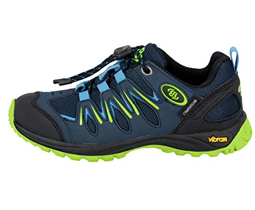 Brütting Unisex - Kinder Sportschuhe Expedition Kids,Outdoor Schuhe,lose Einlage,wasserdicht,atmungsaktiv,Marine/blau/Lemon,31 EU
