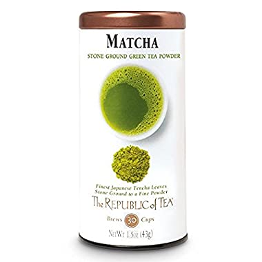 The Republic Of Tea Gourmet Matcha Tea Powder, Non-GMO, 1.5 Ounce Tin