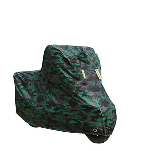 Funda para bicicleta para almacenamiento exterior, impermeable, portátil, ligera, antipolvo, lluvia, protección UV para bicicleta de montaña y carretera con bolsa de almacenamiento con agujero de bloqueo, C, large