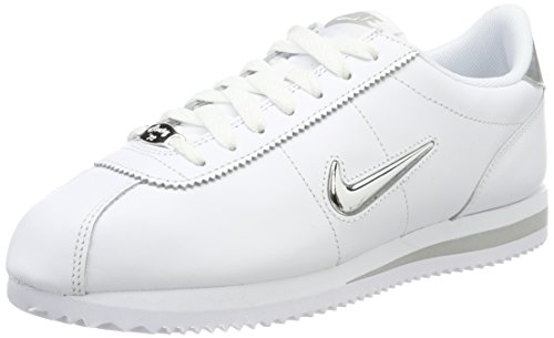 Nike Cortez Basic Jewel, Scarpe da Trail Running Uomo, Bianco (White/Metallic Silver 101), 47.5 EU