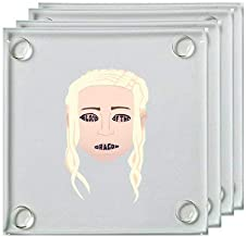 Blood of The Dragon Fantasy Queen Television Parody - Square Glass Coaster, Set of 4
