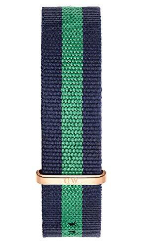 Daniel Wellington Classic Warwick, Montre Bleu-Vert/Or Rose Bracelet, 20mm, NATO, pour Hommes