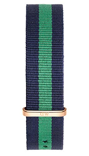 Daniel Wellington Classic Warwick, Blue-Green/Rose Gold Watch Strap, 20mm, NATO, for Men